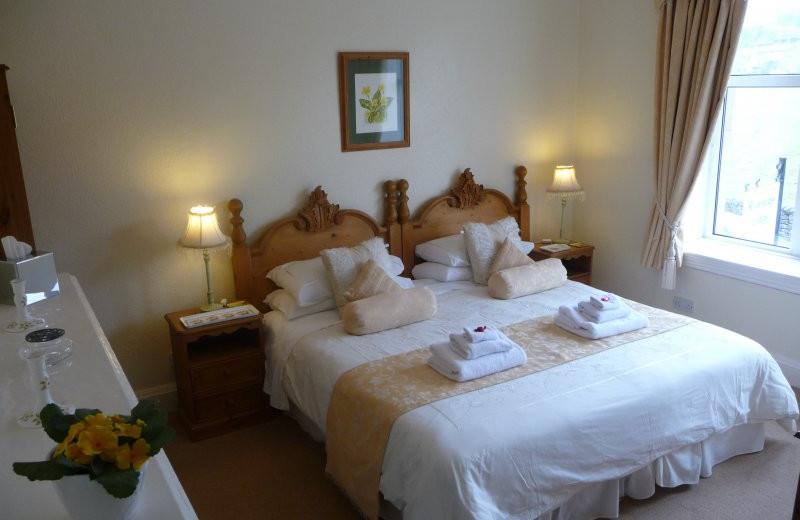 Guest room at Riverside Lodge-Ingleton.