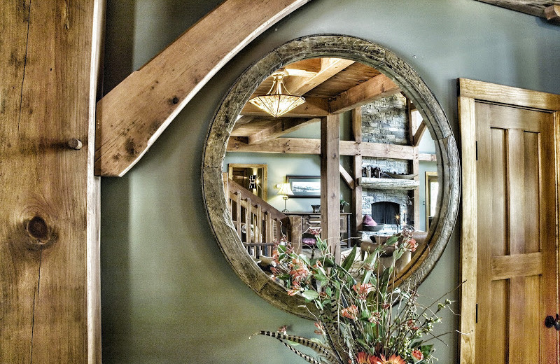 Pond rental mirror at Timber Frame Rentals.