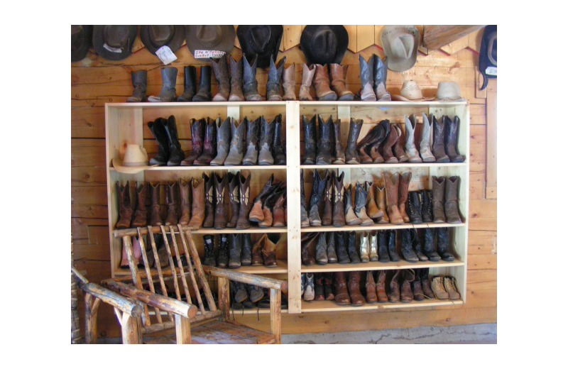 Boots at Rimrock Dude Ranch.
