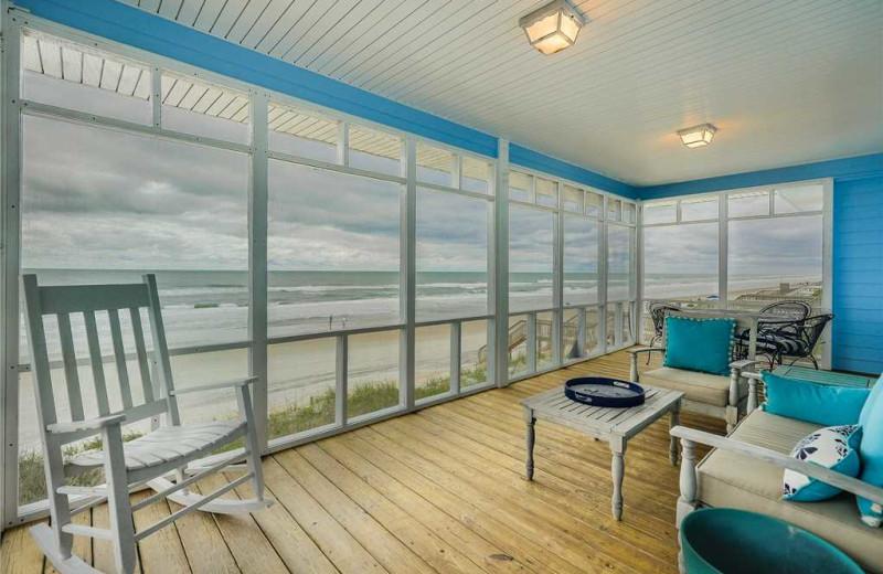 Rental porch at Topsail Realty.