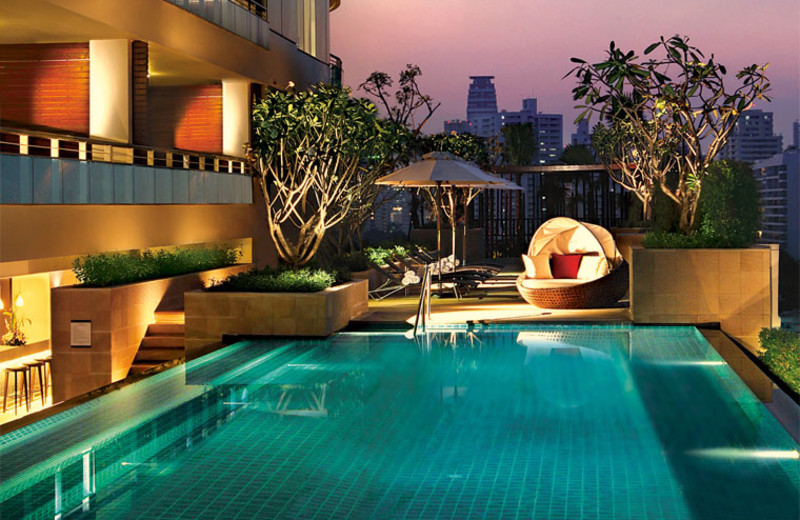 Outdoor pool at Pan Pacific Hotel Bangkok.