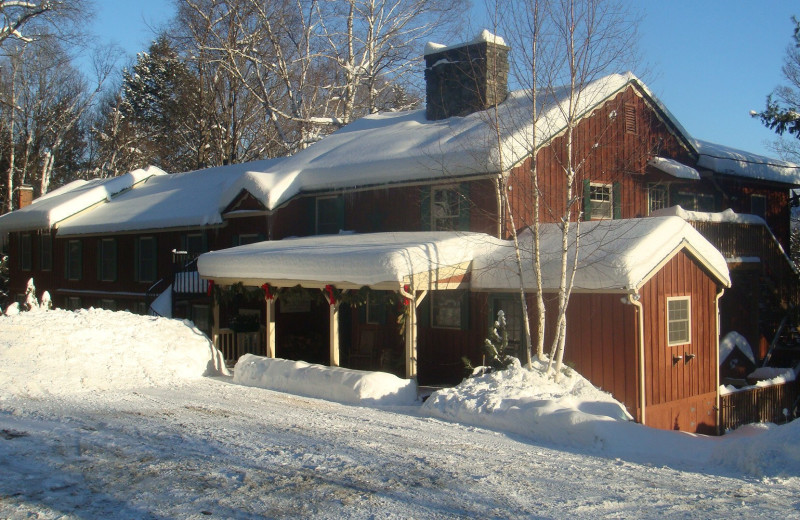 Winter at Timberholm Inn.