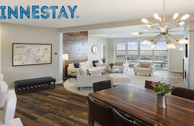 Rental living room at Minnestay.