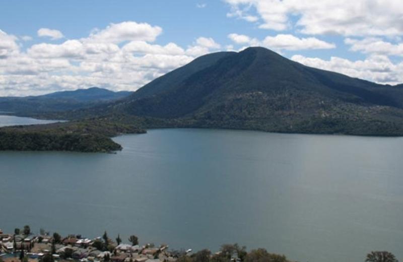 View of lake at Indian Beach Resort.