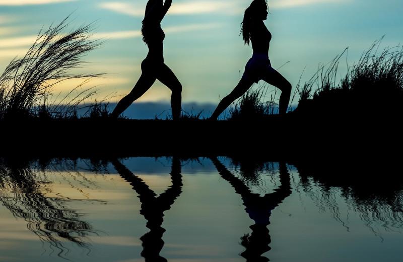 Yoga at Gentry River Ranch.