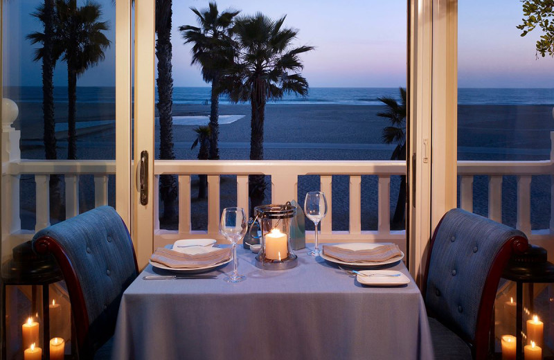 Dining at Shutters on the Beach.