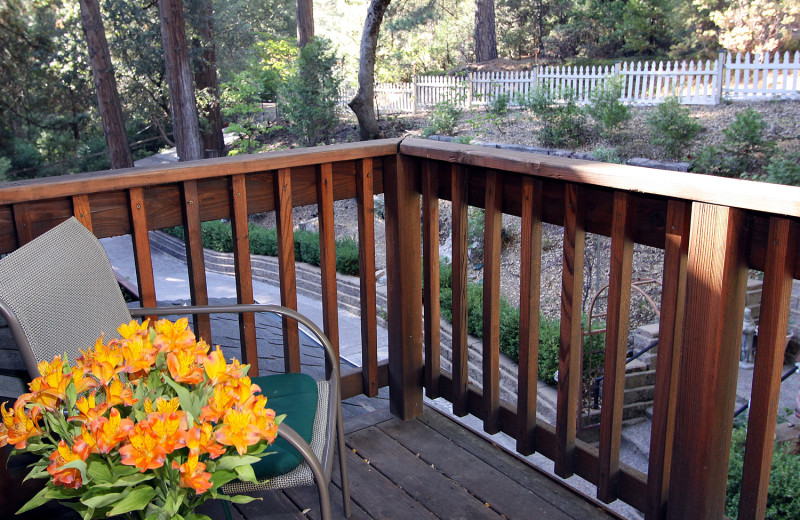 Guest balcony at McCaffrey House Bed and Breakfast.