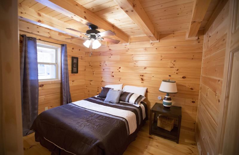 Cabin bedroom at Aspen Ridge.