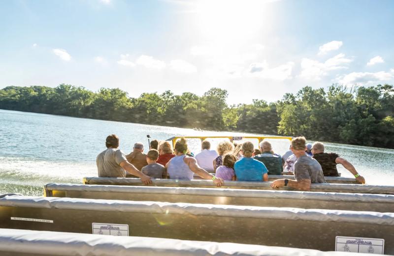 Boat rides at Thousand Hills Vacations.