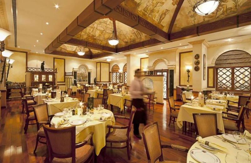 Dining at Gulf Hotel.