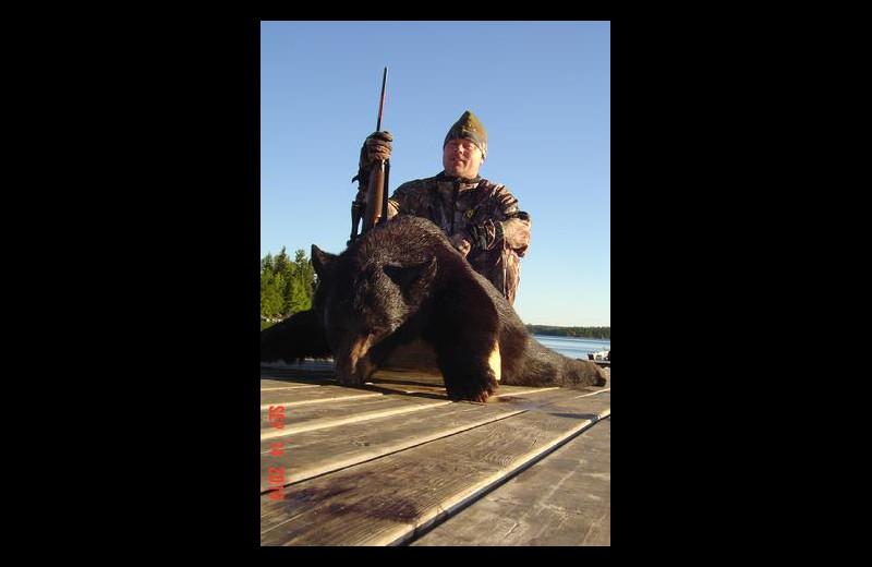 Bear hunting at Stokes Bay Resort.