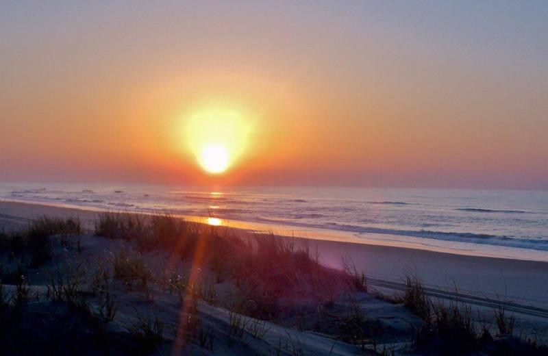Beach sunrise at The Villas of Hatteras Landing.
