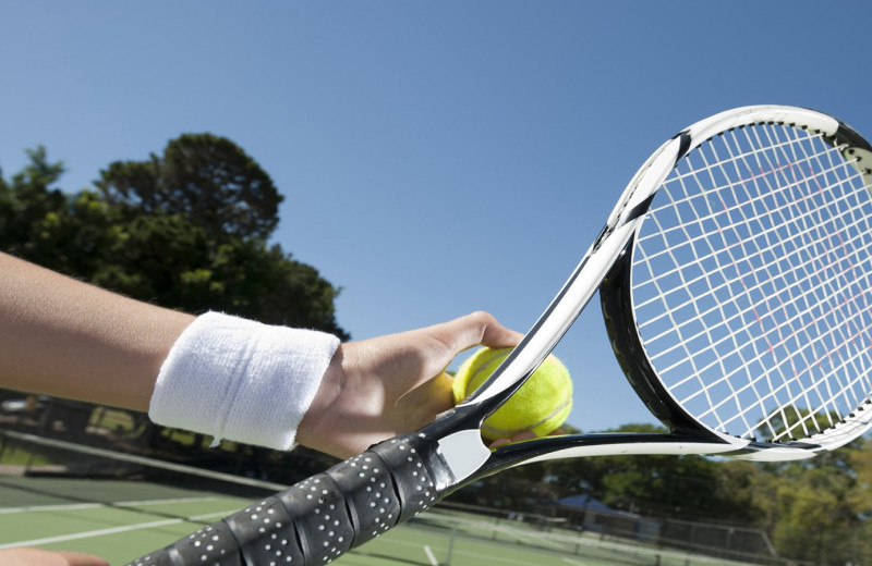 Tennis court at High Hampton Resort.