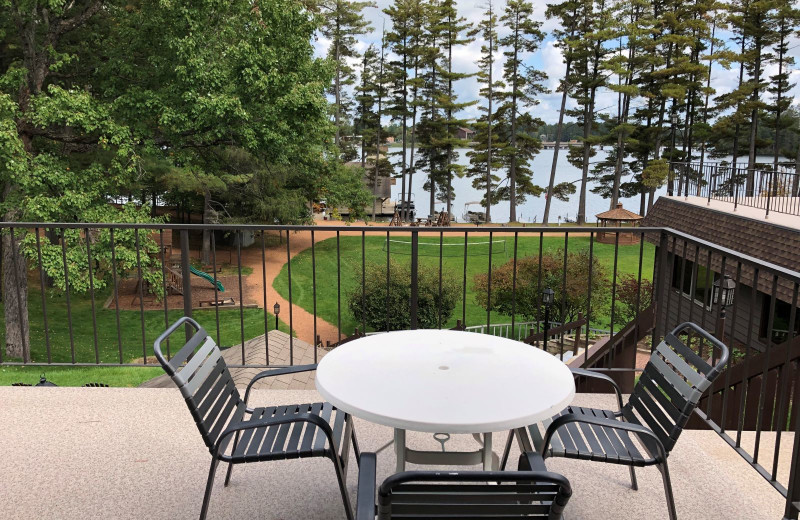 Guest balcony at The Beacons of Minocqua.
