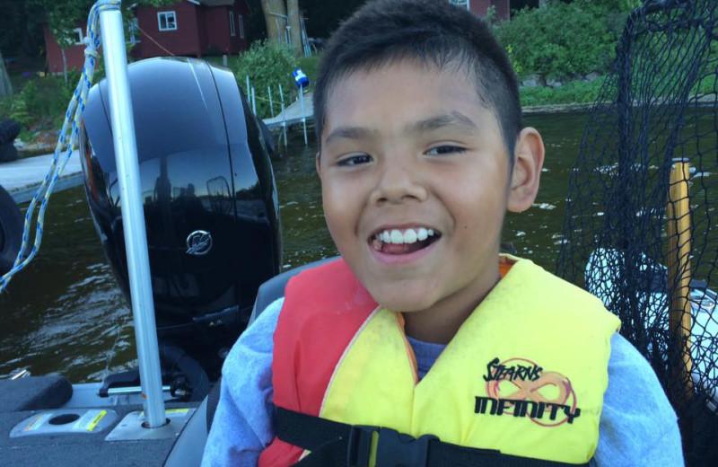 Boating at Driftwood Resort.