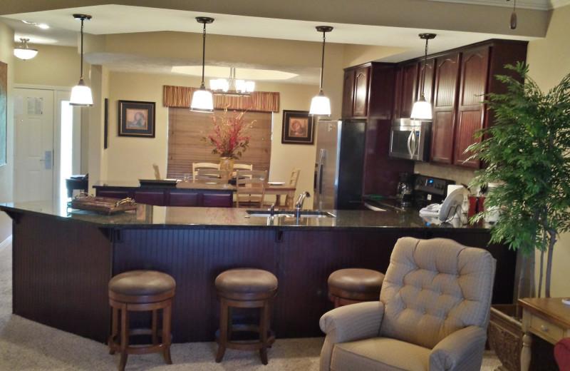 Condo interior at Thousand Hills Golf Resort.