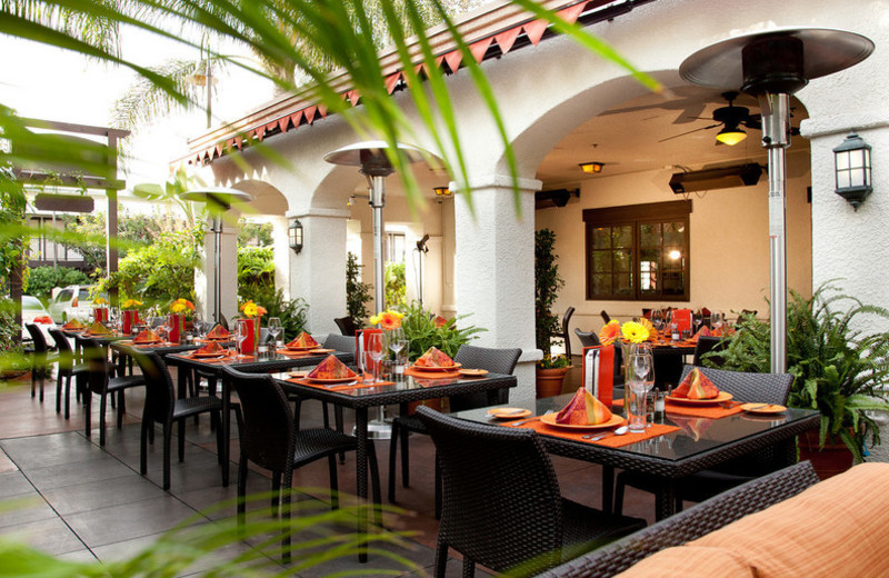 Patio dining at Anabella Hotel.
