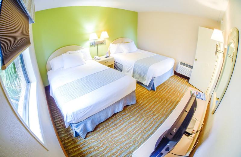 Guest room at Sandcastle Oceanfront Resort at the Pavilion.