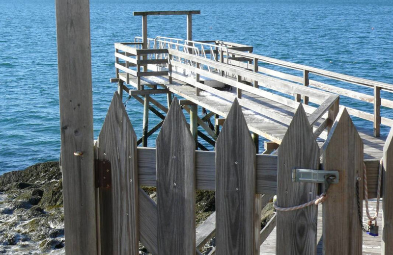 Dock at The Smugglers Cove Inn.
