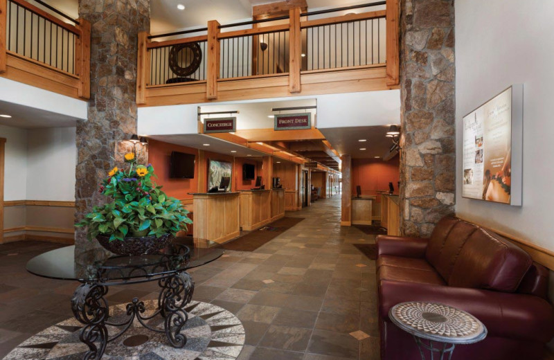 Lobby at Grand Timber Lodge.
