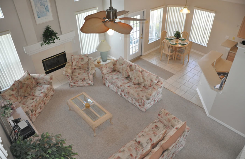 Rental living room at Sunkiss Villas.