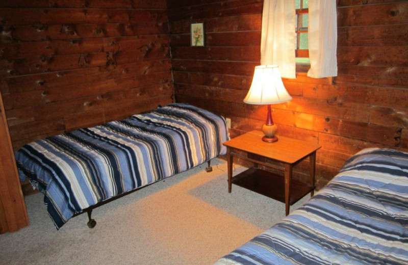 Guest room at Cold Spring Lodge.