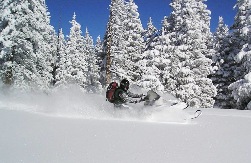 Snowmobiling at Packwood Lodge.