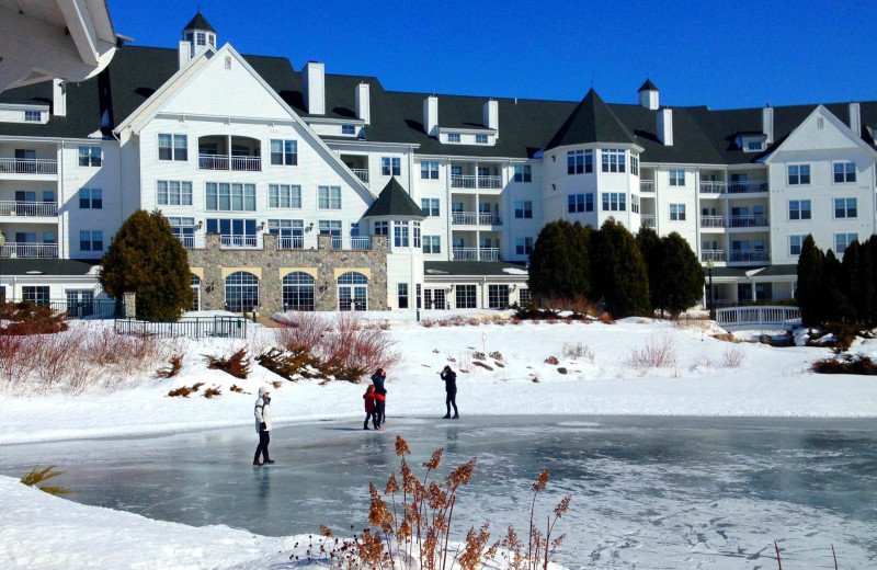 Winter ice rink at The Osthoff Resort.