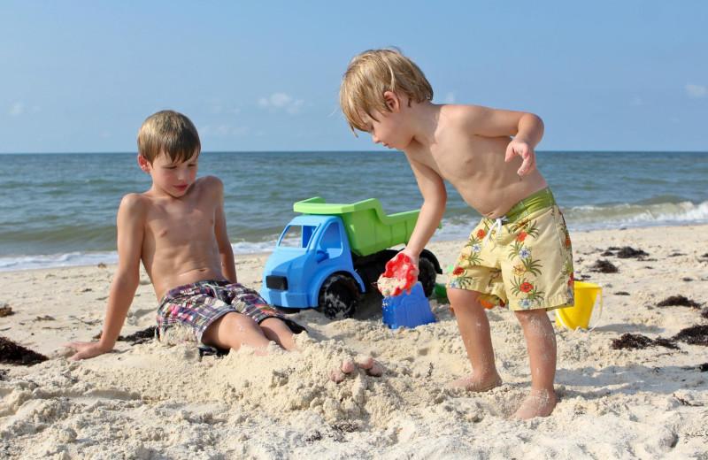 Beach fun at Collins Vacation Rentals.