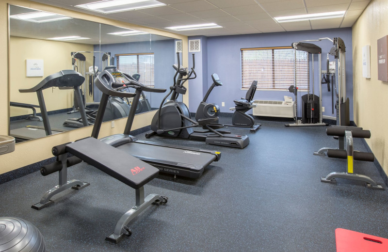 Fitness room at Days Inn & Suites - Benton Harbor.