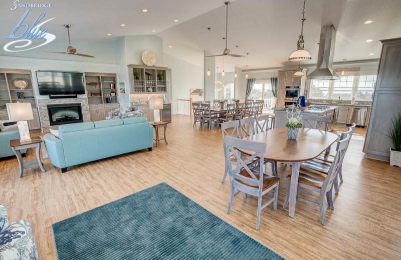Rental interior at Sandbridge Blue Vacation Rentals.