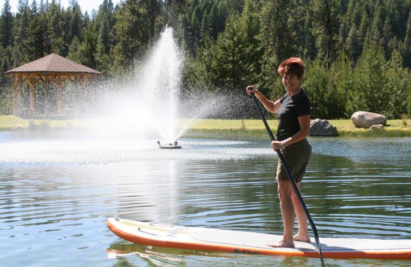 Paddle boat at Bear Creek Lodge.