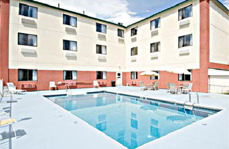 Outdoor pool at Comfort Inn Lakes Region.