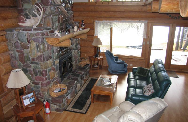 Living room at The Glacier Chalet.