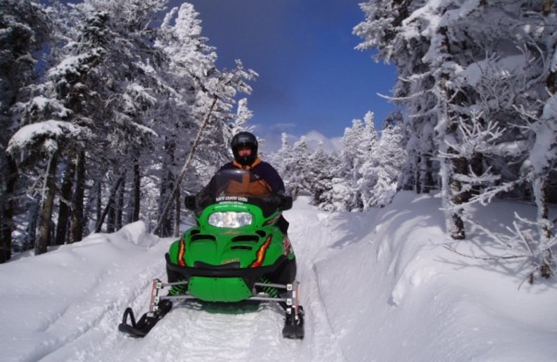 Snowmobile at North Country Rivers