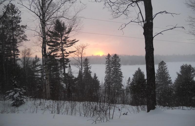 Winter exterior at Buckhorn Resort.
