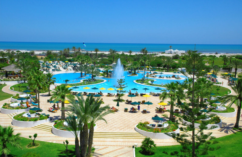 Outdoor pool at Hotel Djerba Plaza.