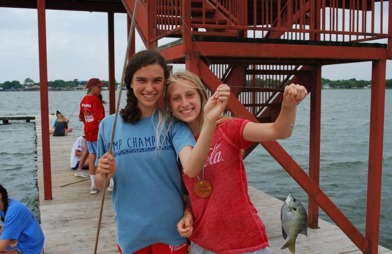 Fishing at Camp Champions on Lake LBJ.