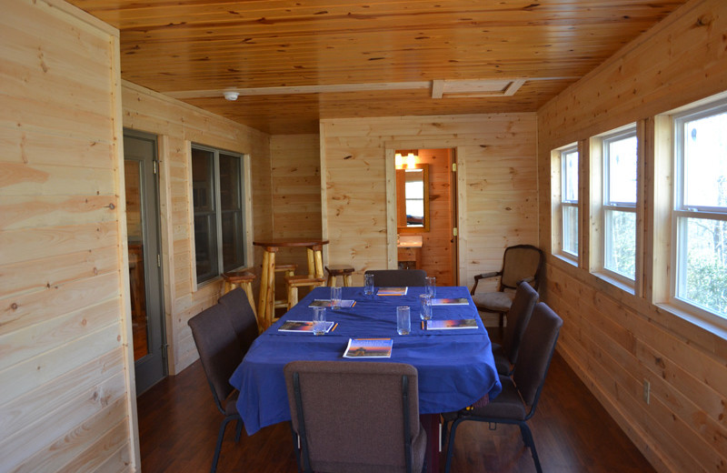 Cabin meeting space at Sautee Resorts.