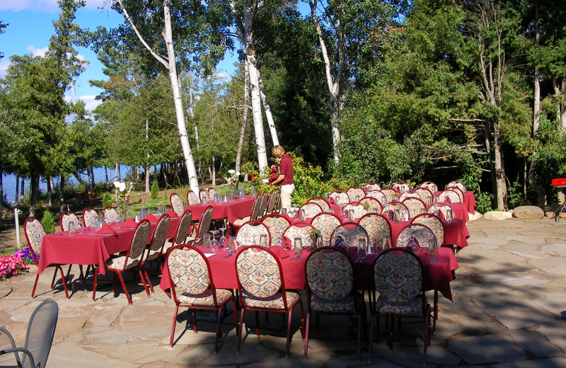Wedding ceremony at Gunflint Lodge.