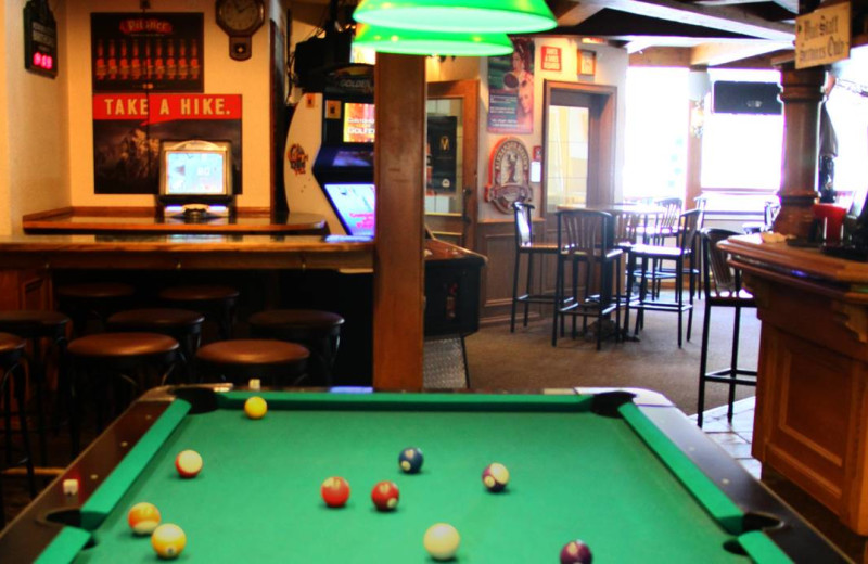 Game room at Whistlers Inn.