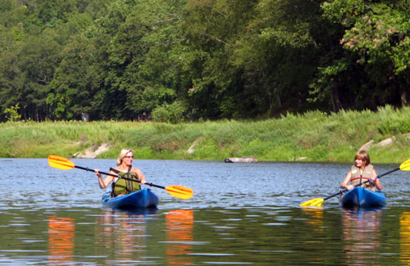 Canoeing at Sylvania Tree Farm, Country Lodging