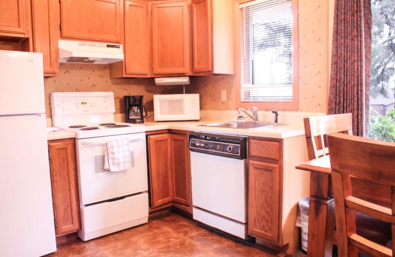 Condo kitchen at Ruttger's Bay Lake Lodge.