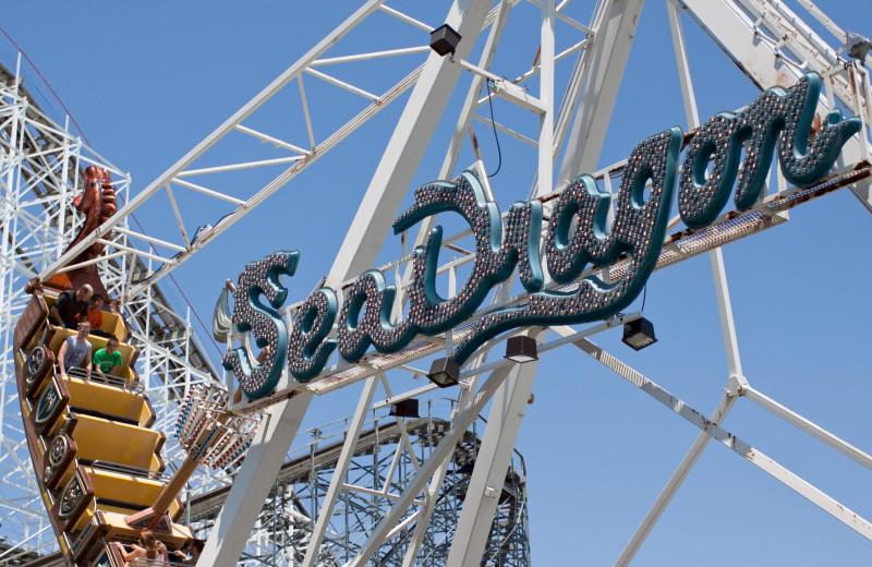 Roller coaster at Indiana Beach Amusement Resort.