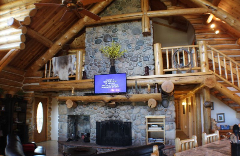 Rental fireplace and loft at Sunetha Property Management.
