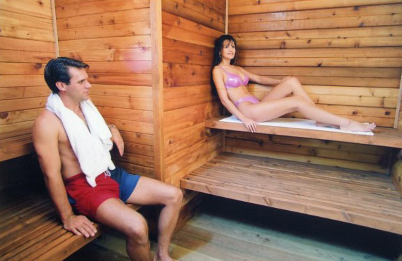 Resort sauna at Lakeview Resort.