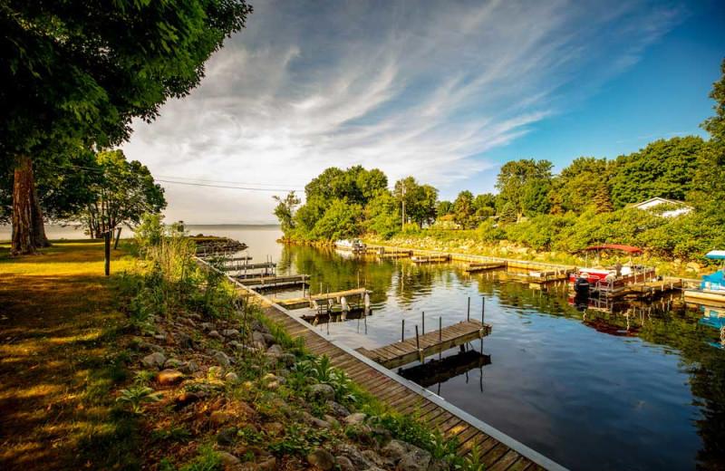Docks at The Red Door Resort.
