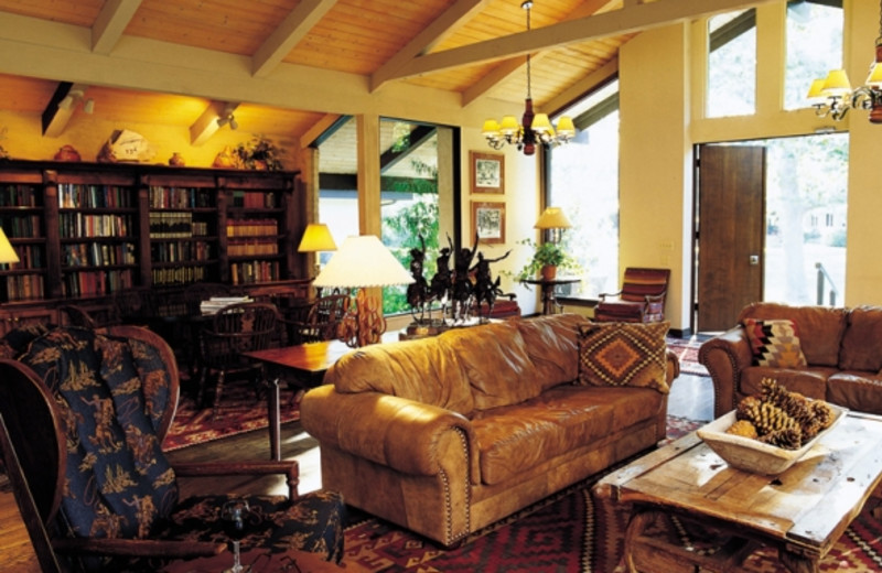 The library at Alisal Guest Ranch and Resort.