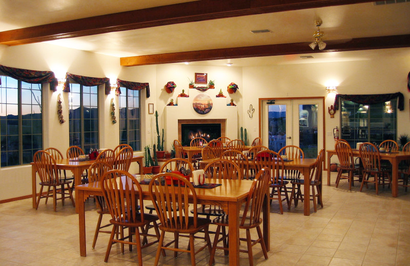 Dining room at Stagecoach Trails Guest Ranch.