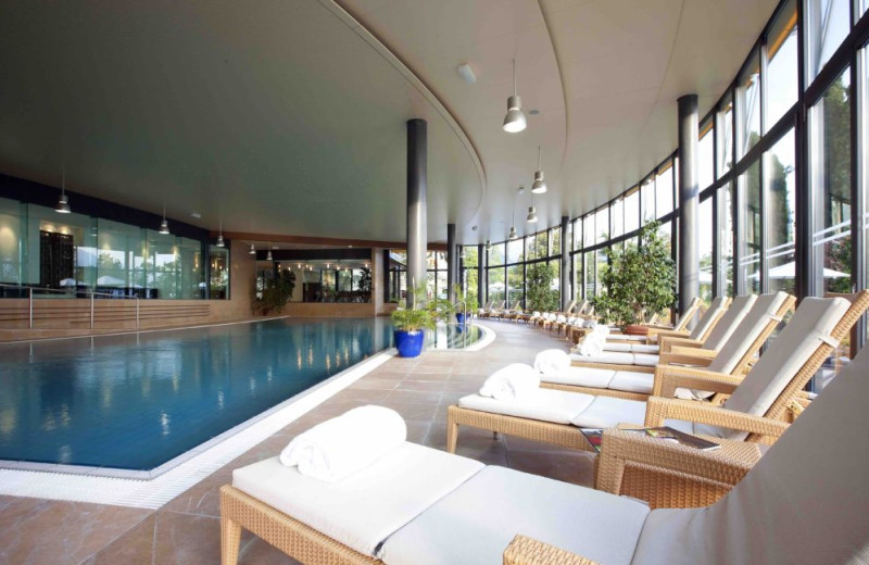 Indoor pool at Le Montreux Palace.
